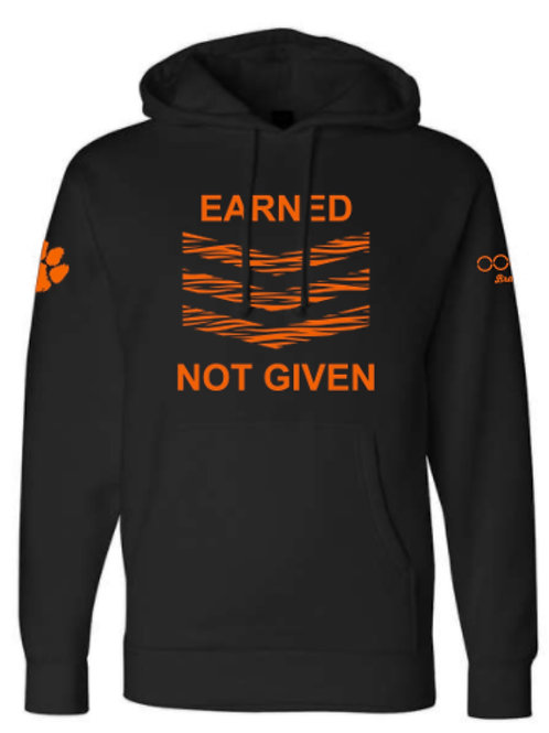Tiger Pride Earned Not Given Unisex Hoodie