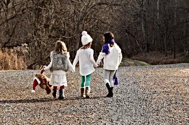 Little Girls Walking