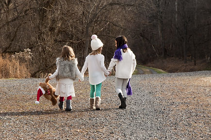 Little Girls Walking