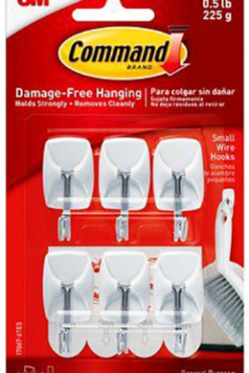 Small Command Strip Utility Hook - 6 Pack