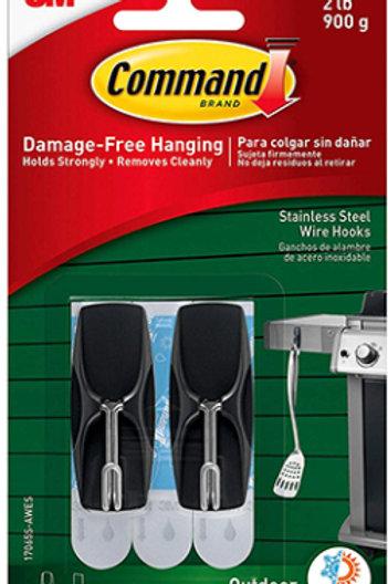 Stainless Steel Wire Hooks w/ Foam Strips