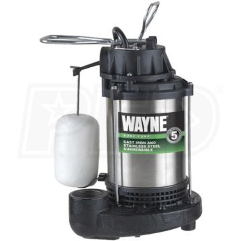 Wayne - 3/4 HP Stainless Submersible Sump Pump w/ Vertical Float Switch