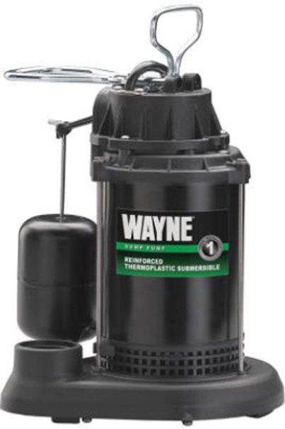 Wayne - 1/3 HP Thermoplastic Submersible Sump Pump w/ Vertical Float Switch