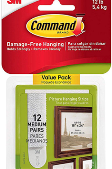 12 Pack Command Strip Picture Hangers