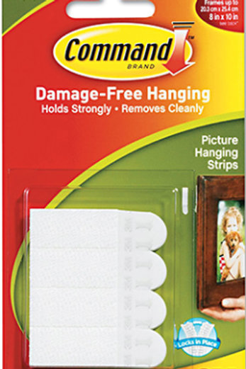 Small 27pk Picture Hanging Strips