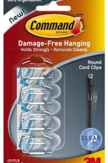 4pk Clear Round Cord Clips