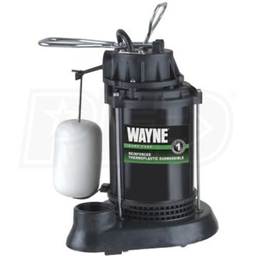 Wayne - 1/2 HP Thermoplastic Submersible Sump Pump w/ Vertical Float Switch