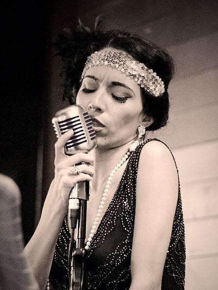 Arizona Vintage Jazz Singer Jackie Lopez The White Rabbit Speakeasy Bar