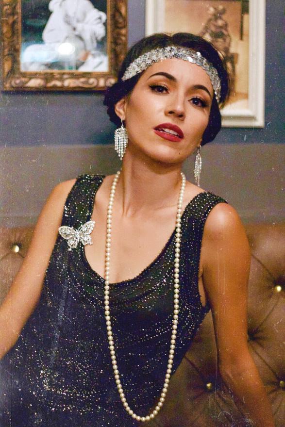 Great Gatsby Flapper Jazz Singer Jackie Lopez