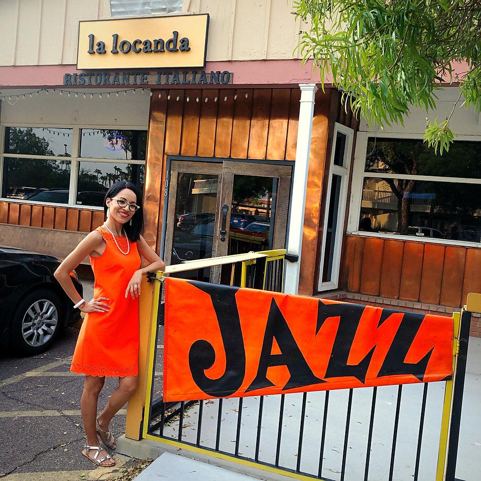 Live Jazz Arizona Scottsdale La Locanda Singer Jackie Lopez