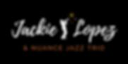 Jackie Lopez & Nuance Jazz Trio Band Logo AZ