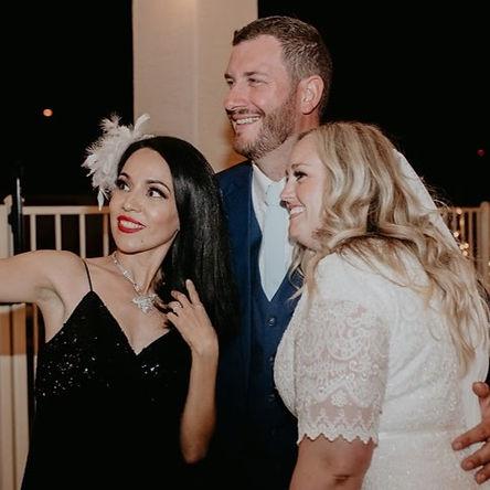 Phoenix Arizona Jazz Wedding Singer Jackie Lopez Bride Groom Selfie