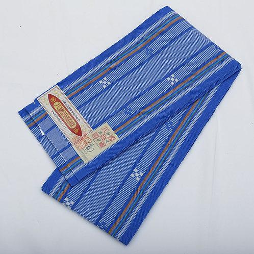 琉球花織半巾帯 正絹