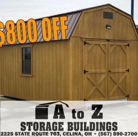 """The Truman"" 10x16 Smart Barn  Sale Price $5656.36 (Valid until Aug. 2)"