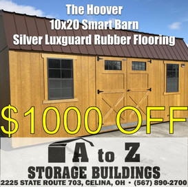 """""""The Hoover"""" 10x20 Smart Barn Sale Price $7026.39 (Valid until Aug. 2)"""