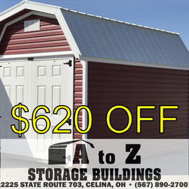 8x12 Vinyl Barn Sale Price $5291.45 (Valid until Aug. 2)