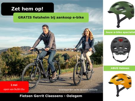 GRATIS fietshelm bij aankoop e-bike