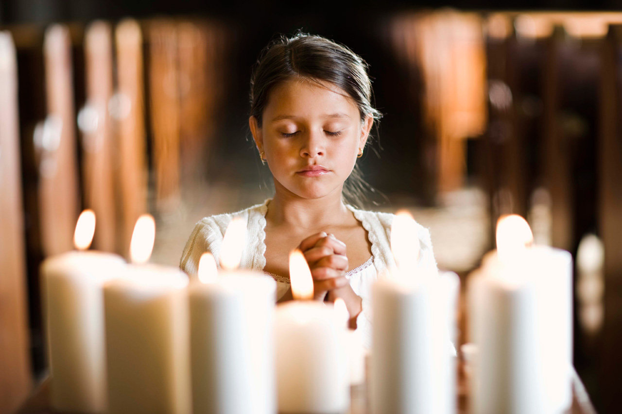 Beten Mädchen