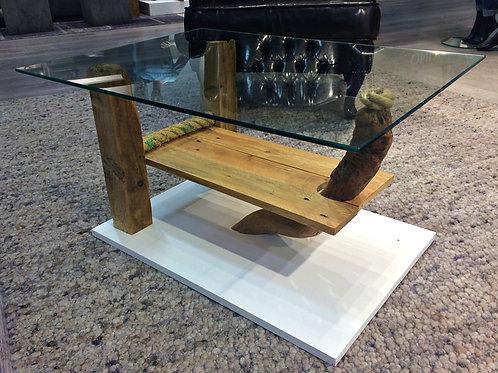 Treibholz-Glastisch-Couchtisch