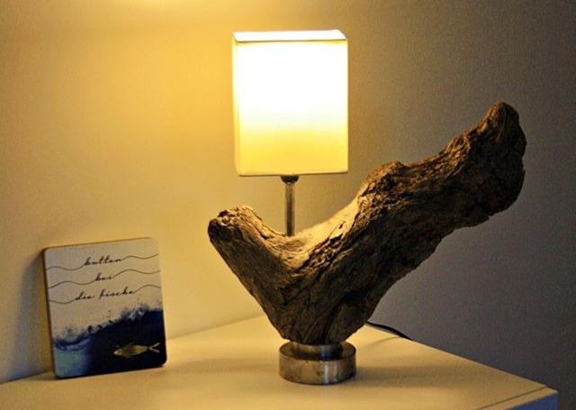 Tischlampe Treibholzwurzel