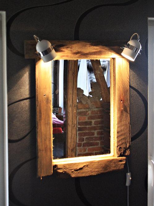 TreibholzWandspiegel mit Beleuchtung