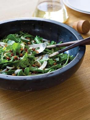 Salade de roquette et d'endive