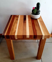 Off Cut Side Table with castellated edge