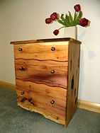 Yew Chest of Drawers