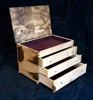 Tulipwood Jewelery Box Cabinet