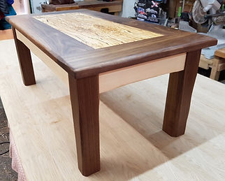 Walnut and Spalted Beech Coffee Table