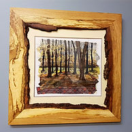 Waney Edged Oak Picture Frame