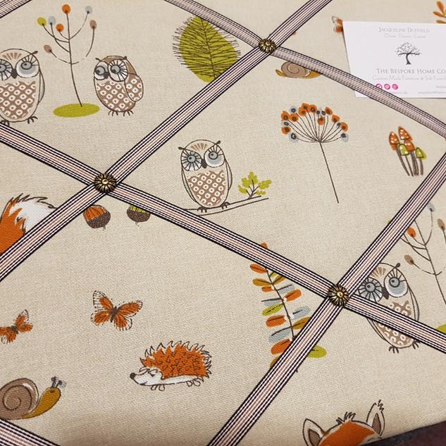 Ribbon detail on Woodland Fabric