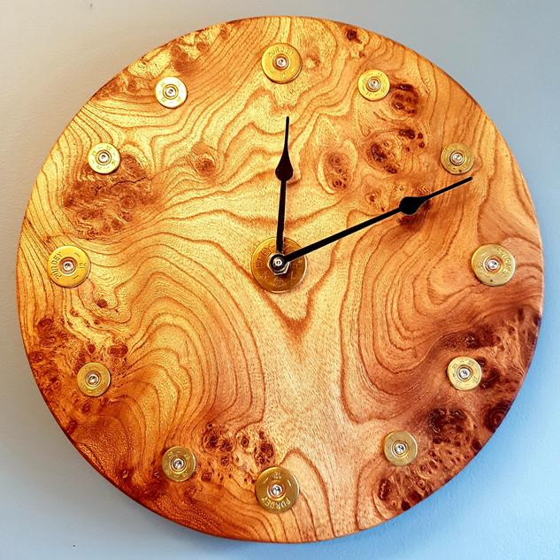 Burr Elm Clock