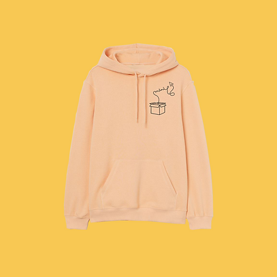 Oranje basis hoodie - vierkant - Mini Ma