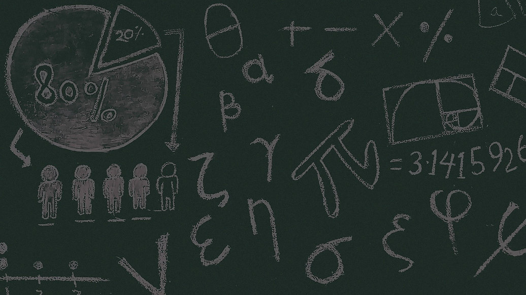 Samengestelde achtergrond van wiskundige tekens