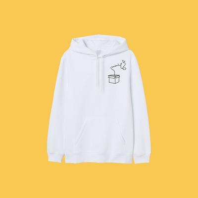 Witte basis hoodie - vierkant -  Mini Ma