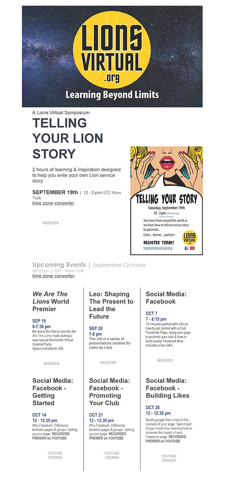 Lion Sept-Oct Virtual Training Opportuni