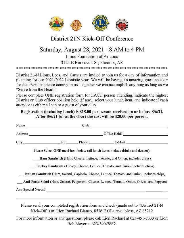 July 2021 21N Kickoff Registration Form.