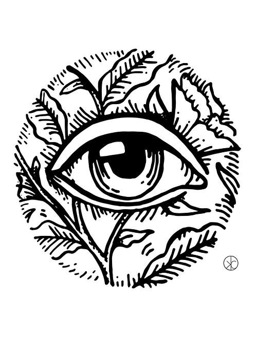 Floral Eye Print