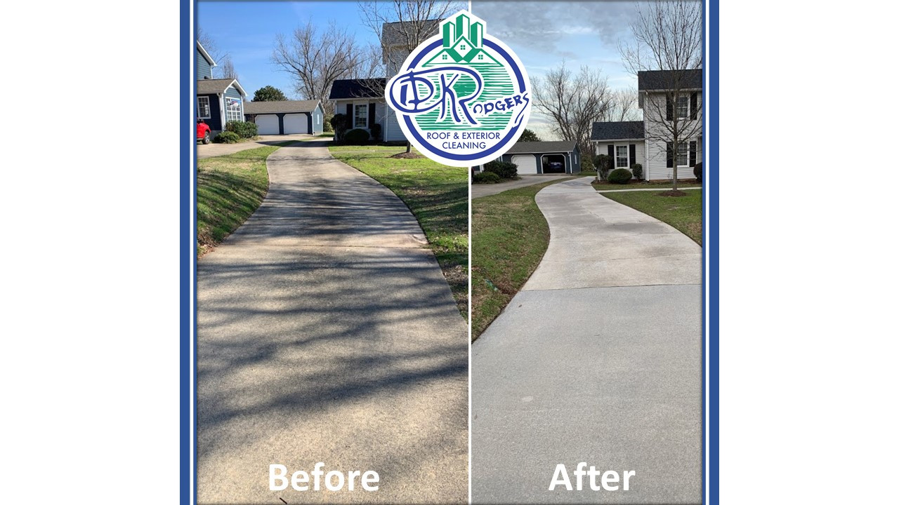 Before & After - Residential Driveway Cl