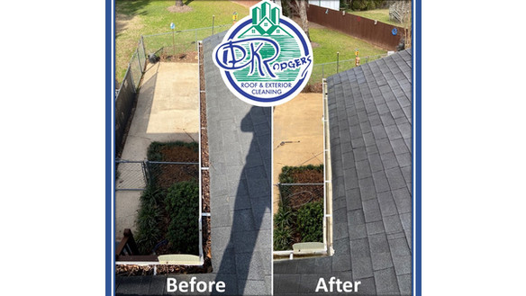 Before & After Residential - gutter clea