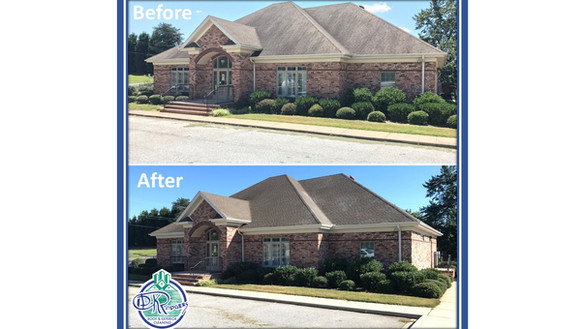 Before & After Commercial Roof Cleaning