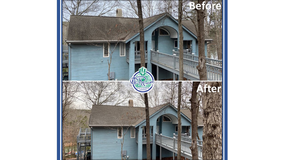 Before & After - Residential Roof Cleani