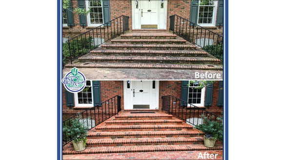 Before & After - Residential Brick Entry
