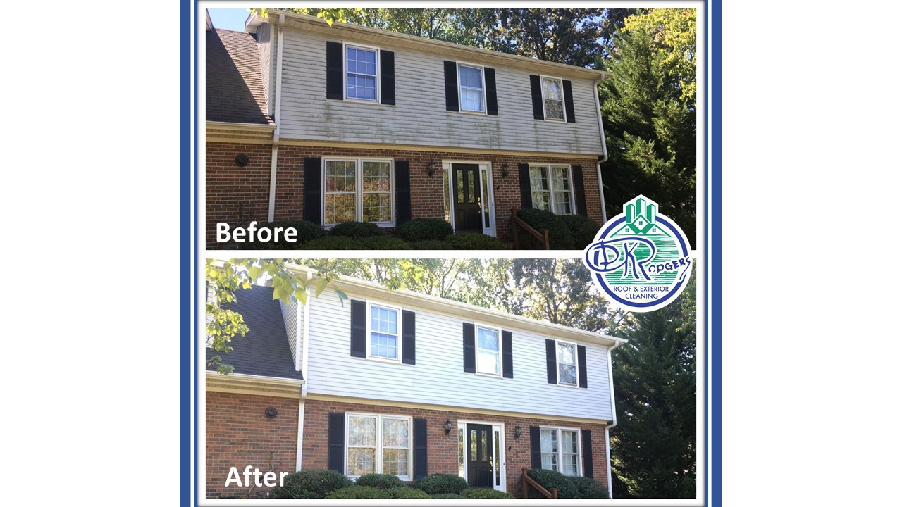 Before & After Residential - Housewash w