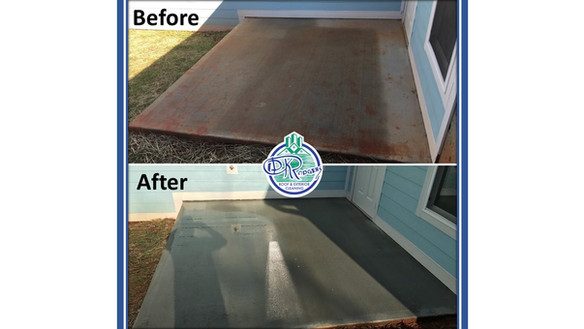Before & After Residential - Patio w log
