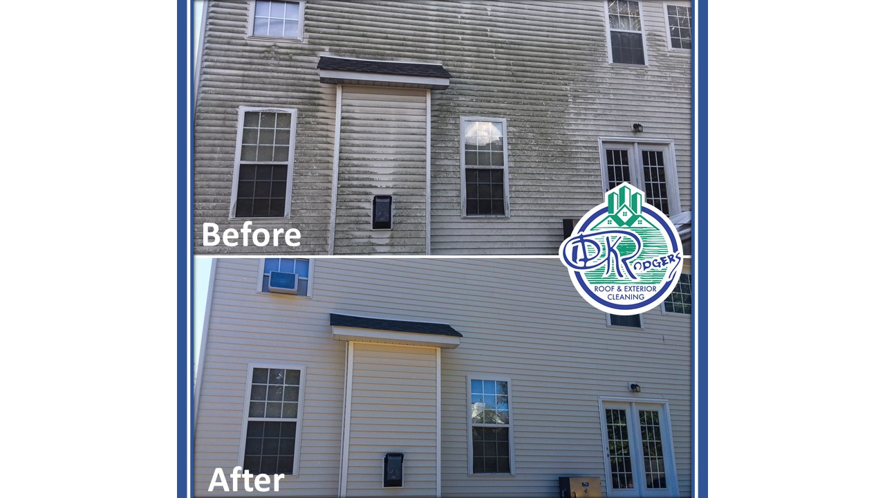 Before & After Residential - House Wash