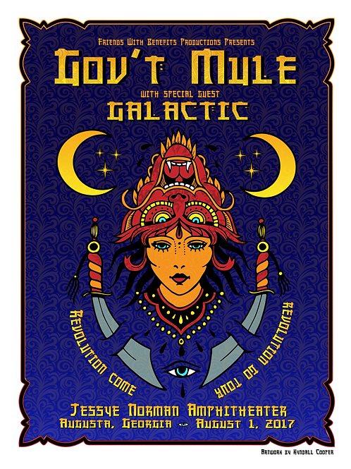 Gov't Mule with Galactic Poster