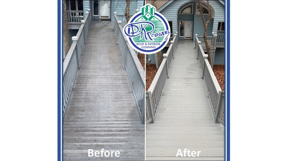 Before & After - Residential Deck Cleani