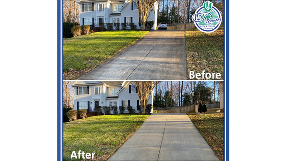 12-29-20 Before & After Driveway Cleanin
